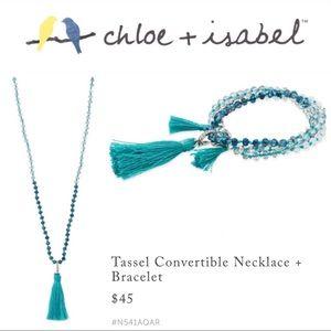 🆕 Tassel Convertible Necklace + Bracelet N541AQAR